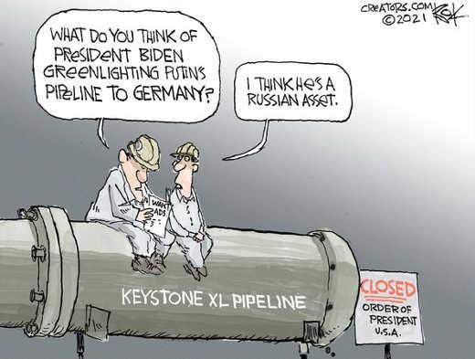 biden no keystone pipeline go ahead putin russian pipeline