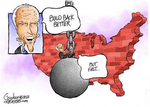 build back better joe biden but first wrecking ball