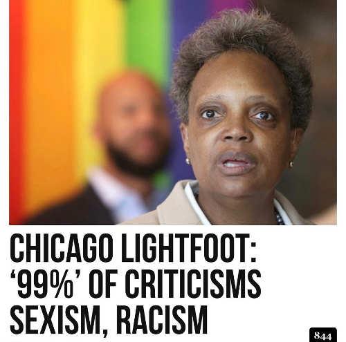 chicago lightfoot 99 percent criticisms racism sexist
