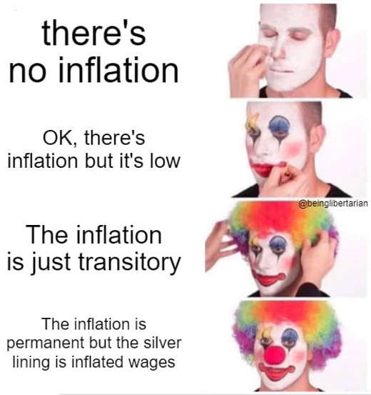 clowns inflation permanent but silver lining inflated wages