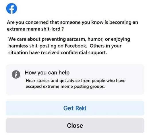 facebook warning meme shitlord prevent sarcasm humor