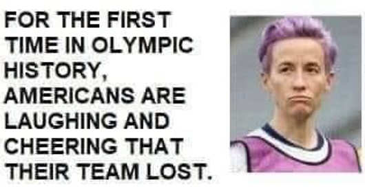 first time olympic history americans laughing cheering team lost rapinoe