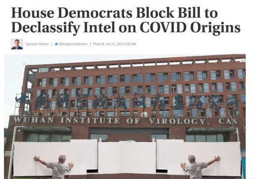 house democrats block bill declassify intel covid origins