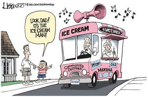 ice cream man joe biden pfizer moderna jnj vaccines