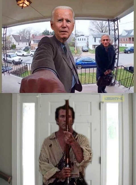 joe biden dr fauci mel gibson patriot doorbell