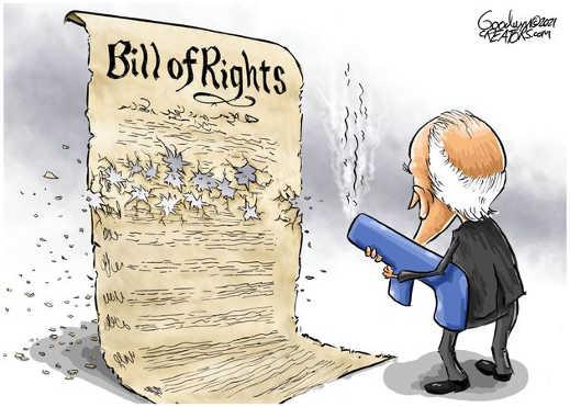 joe biden shooting bill of rights constitution
