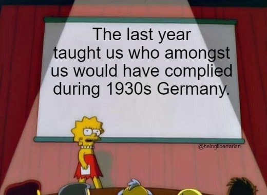 message lisa simpson last year taught who complied 1930s germany