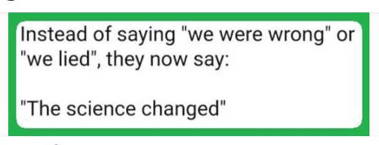 quote cdc instead of we lied were wrong science changed