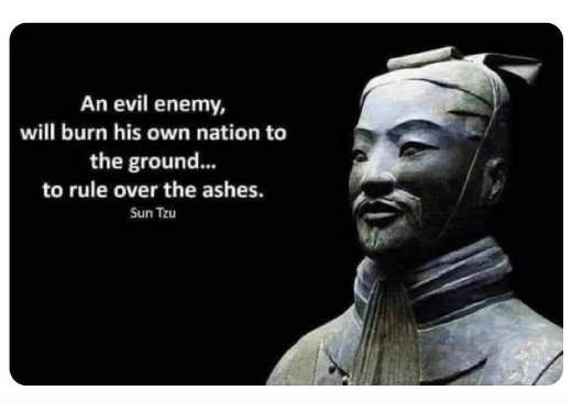 quote suz tzu evil enemy burn own nation rule over ashes