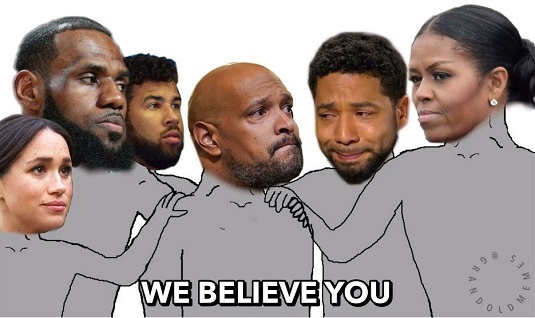 smollette lebron michele obama wallace hoaxers we believe you