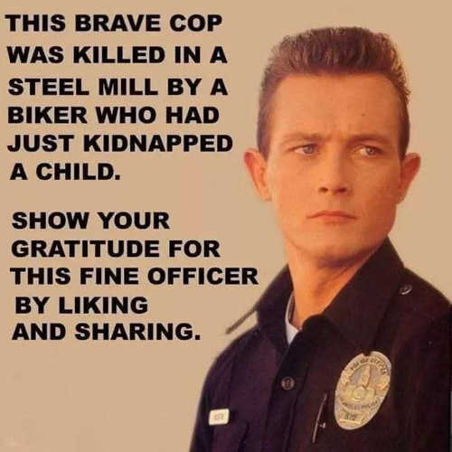 terminator this cop killed by biker who kidnapped kid