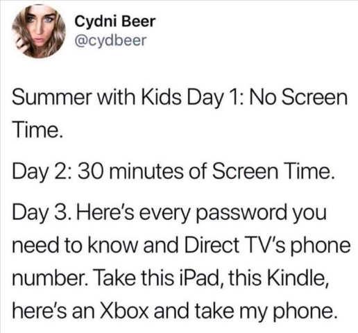 tweet cdyni summer with kids xbox phone