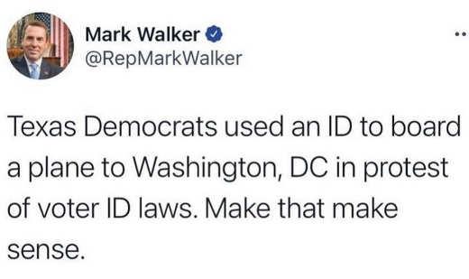 tweet texas democrats id board plane dc protest voter id laws