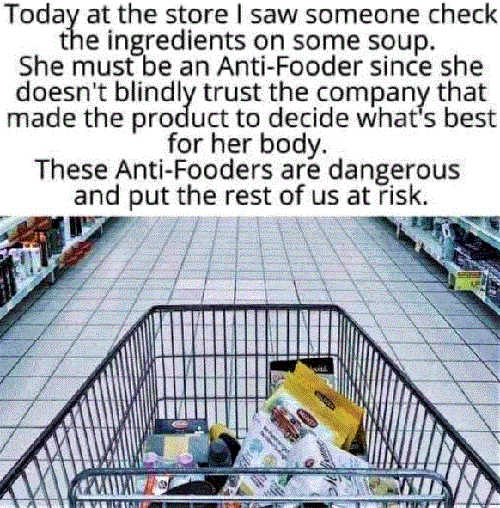 anti fooder check ingredients dangerous put us all at risk