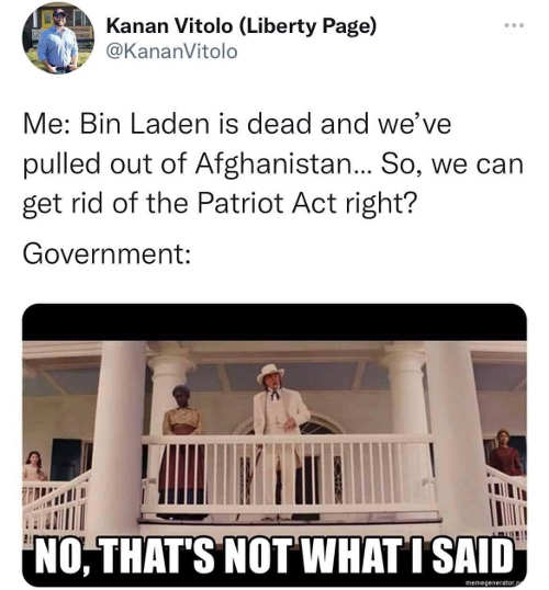 bin laden dead troops out of afghanistan get rid of patriot act right government