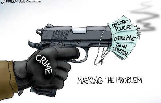 crime problem masking democrat policies gun control defund police