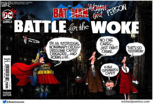dc comics pc battle of woke bat transexual