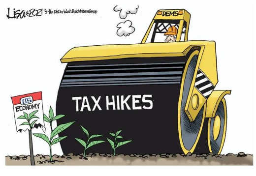democrats biden steamrolling economy tax hikes