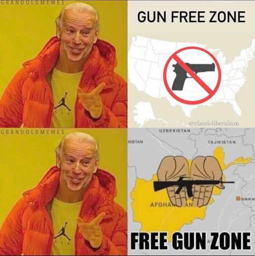 joe biden usa gun free zone afghanistan free gun zone