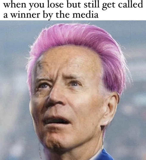 joe biden when lose but still called winner by media