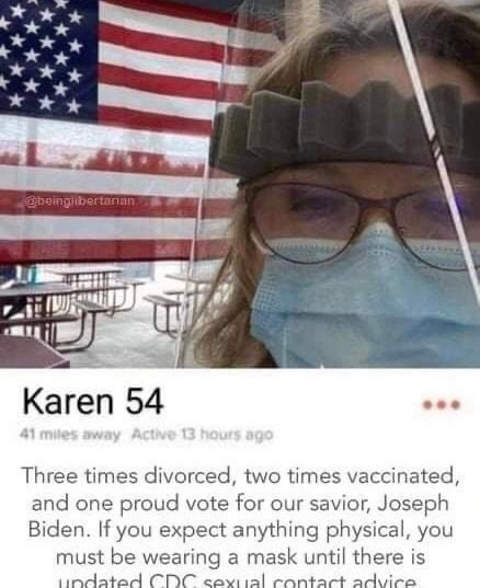karen divorced vaccinated must wear mask on date cdc guidance