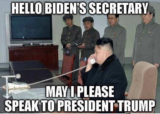 kim north korea biden secretary speak to president trump