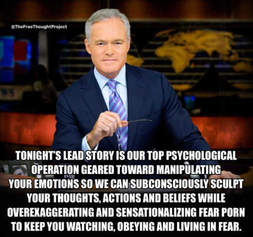 mainstream media lead story psychological operation manipulation fear obey