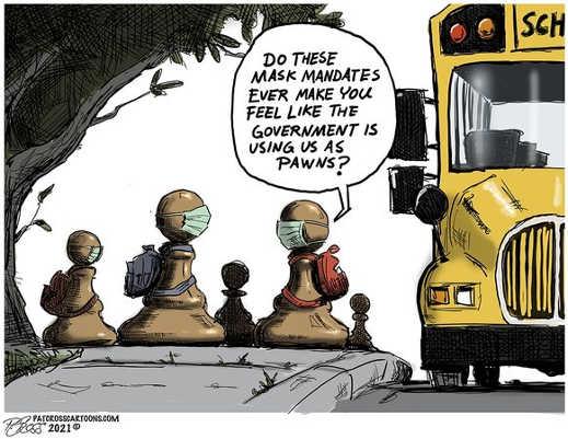 mask mandates using kids as pawns school bus
