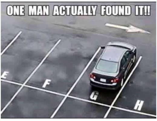 one man found g spot parking car