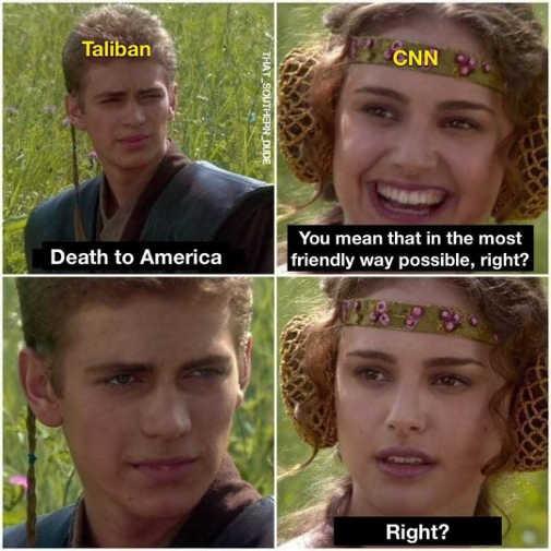 taliban death to america cnn mean that friendly way right anakin padme
