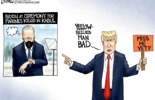 trump yellow bellied man bad joe biden checking watch kabul