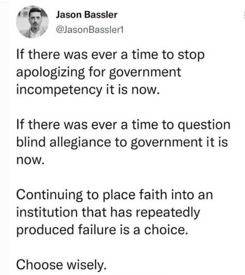 tweet jason bassler ever time stop apologizing government blind allegiance repeated failure