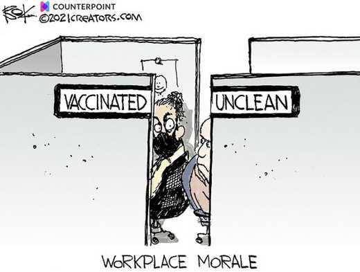 vaccinated unclean workplace morale dividers