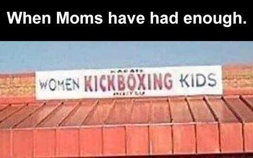 when moms had enough women kickboxing kids