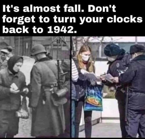 almost fall dont forget turn clocks back to 1942 checking papers