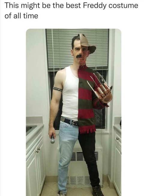 best Halloween costume freddy mercury krueger