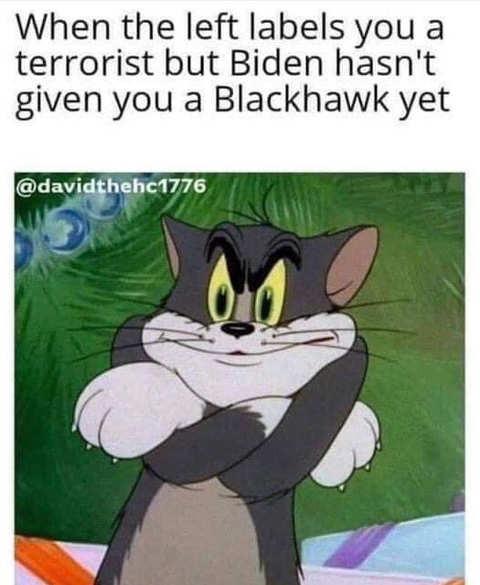 biden calls terrorist but no blackhawk helicopter jerry