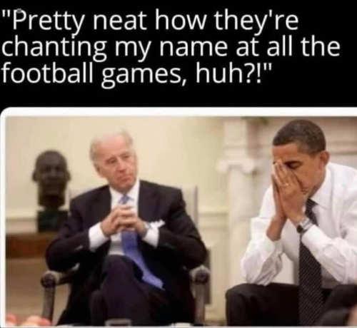 biden obama neat calling name football games