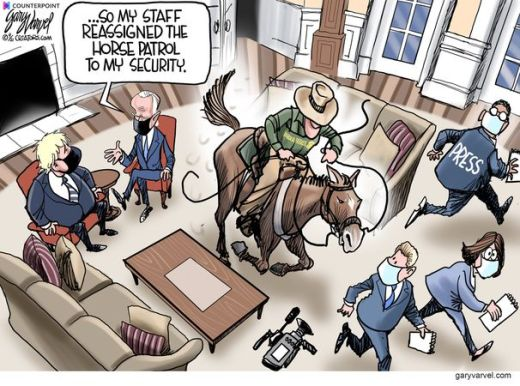 biden reassigned horse patrol my security press whipping