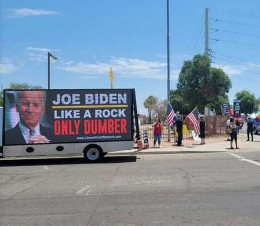 bus joe biden like a rock only dumber