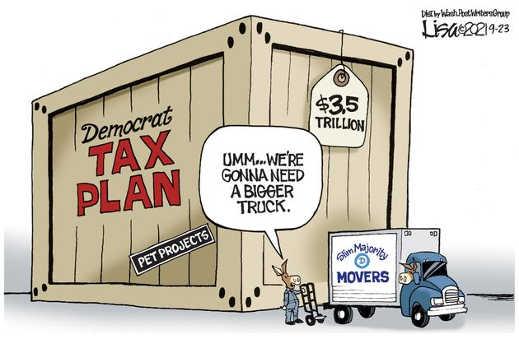 democrat pet projects tax plan bigger truck 3.5 trillion