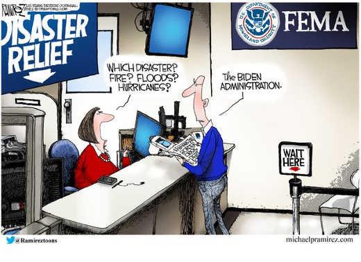 disaster relief which fire floods hurricanes biden administration