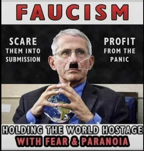 dr faucism scare into submission profit from panic