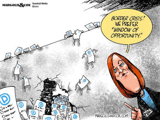 jen psaki border crisis window of opportunity democrat voter wall jumping