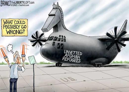 joe biden unvetted afghan refugees trojan horse plane