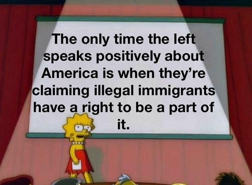 lisa simpson only time left speaks positively america illegal immigrants right to be part of