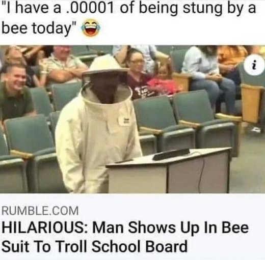 man school board bee suit troll school board