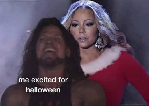 me excited for halloween mariah carey all want for christmas