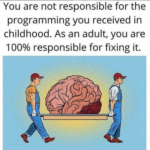 message not responsible for programming as child adult 100 percent fixing it