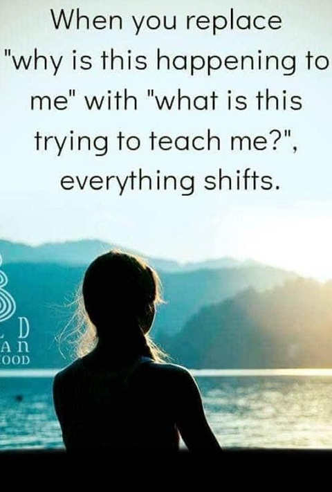 message replace why happening to me what trying to teach